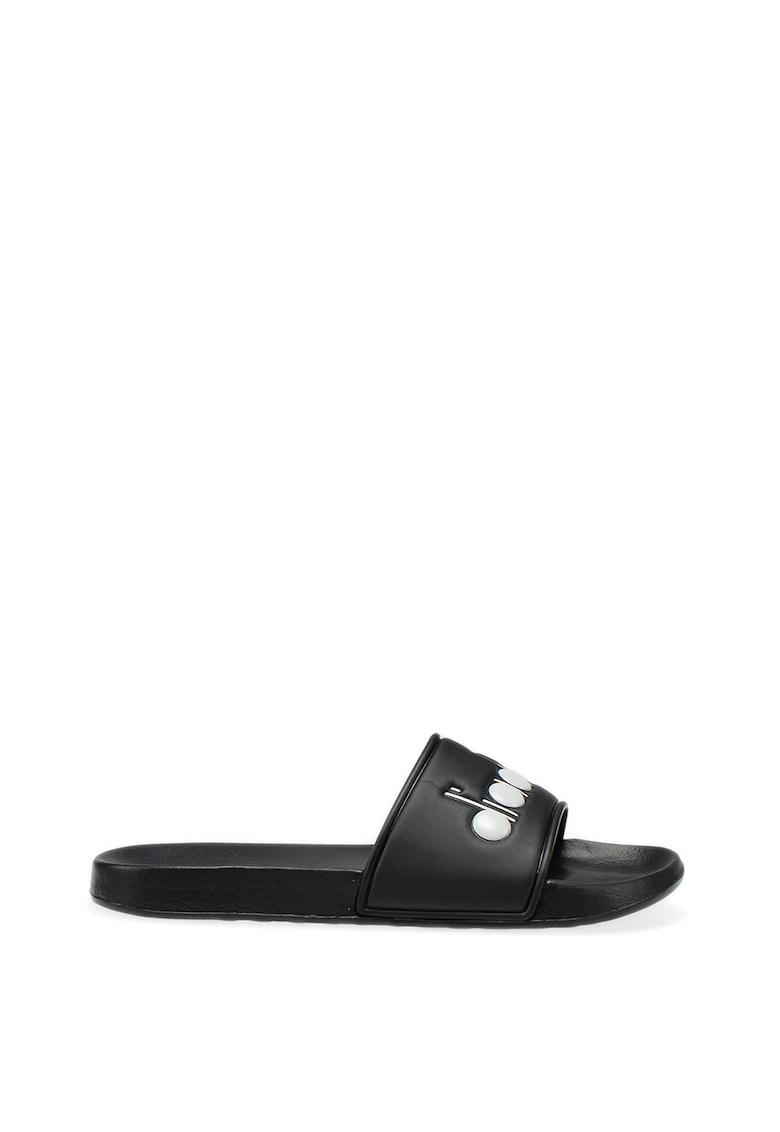 Papuci unisex cu logo Serifos '90