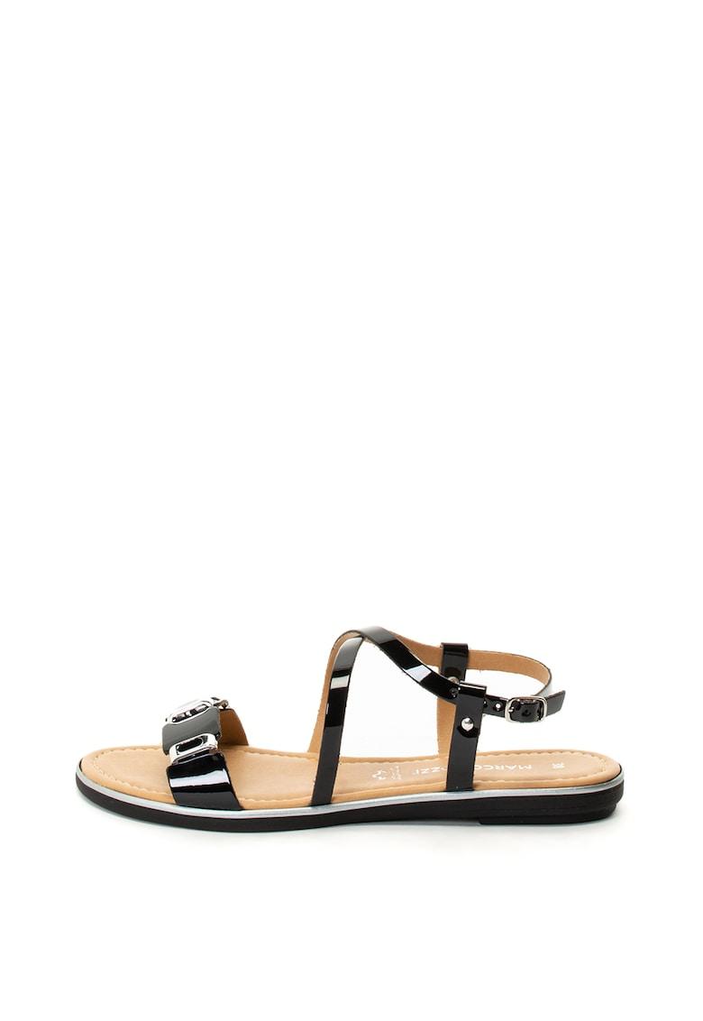 Sandale de piele lacuita Marco-Tozzi imagine 2021