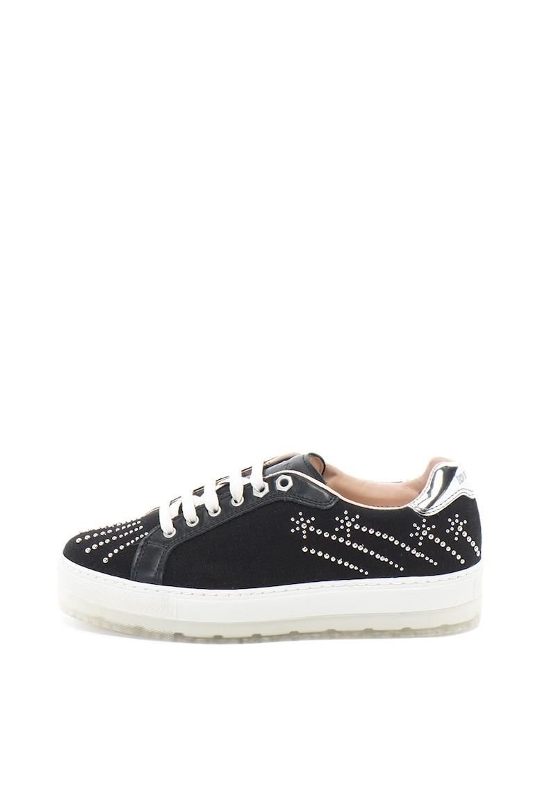 Pantofi sport flatform de piele si material textil S-Andyes
