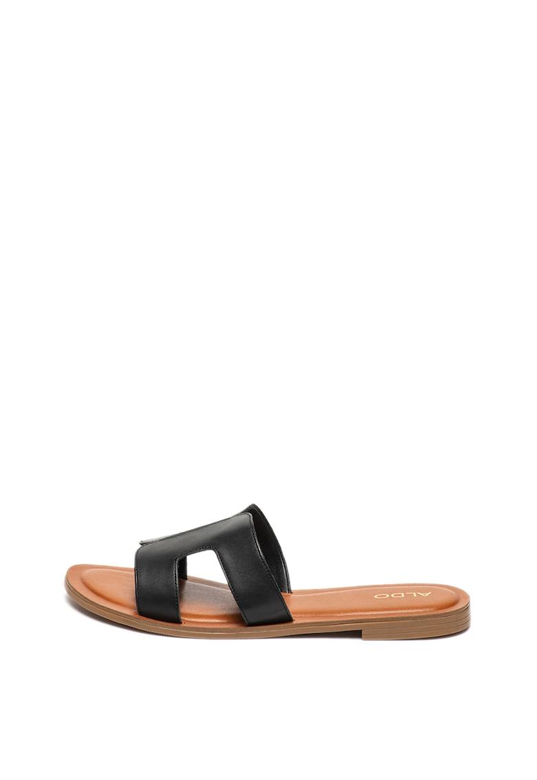 Papuci de piele Delassa