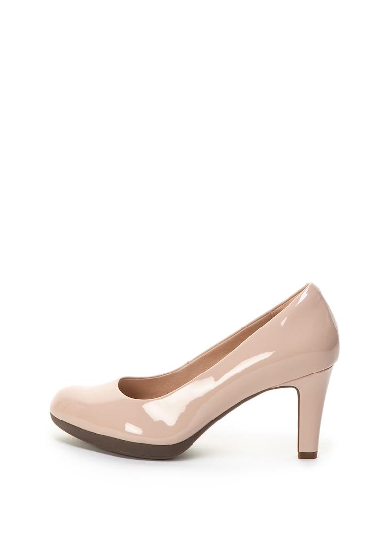 Pantofi de piele sintetica cu toc Adriel Viola de la Clarks