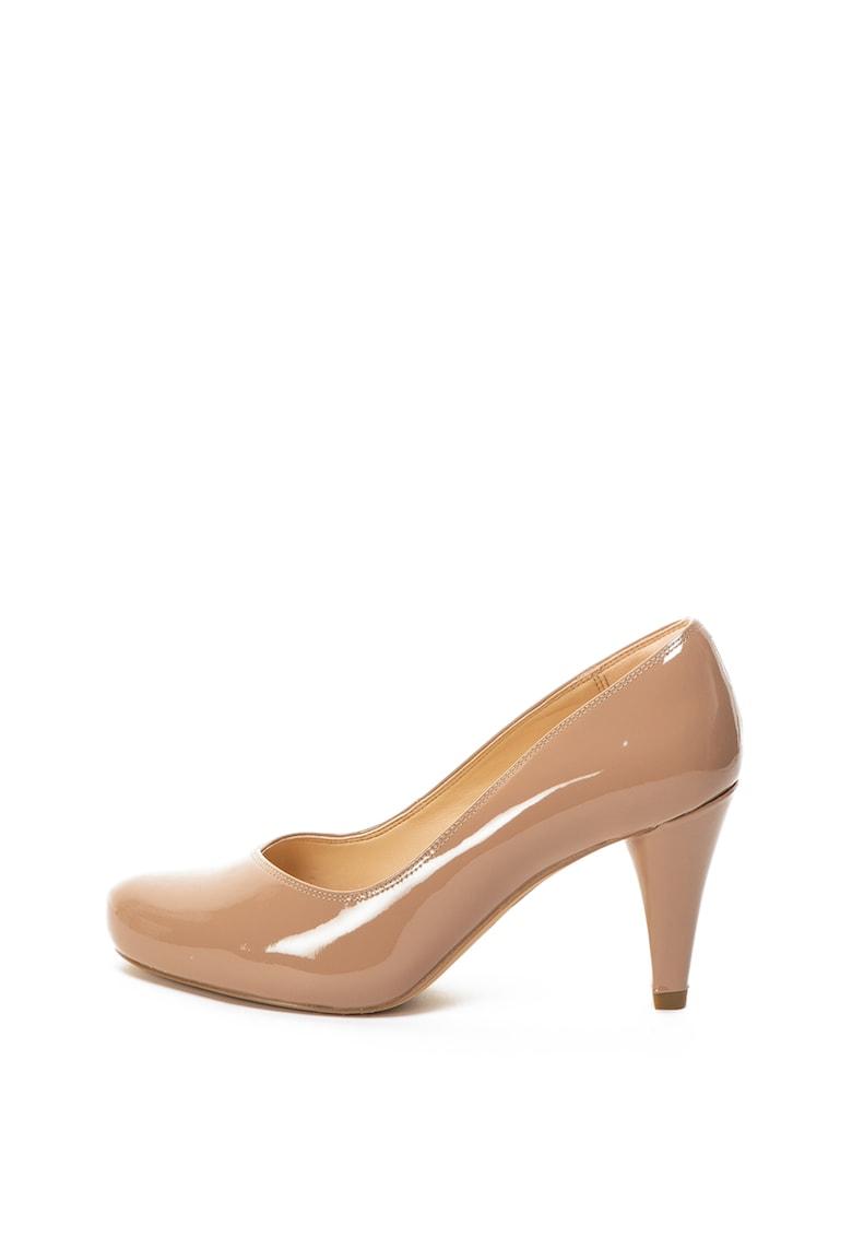 Clarks Pantofi de piele lacuita cu toc inalt Dalia Rose