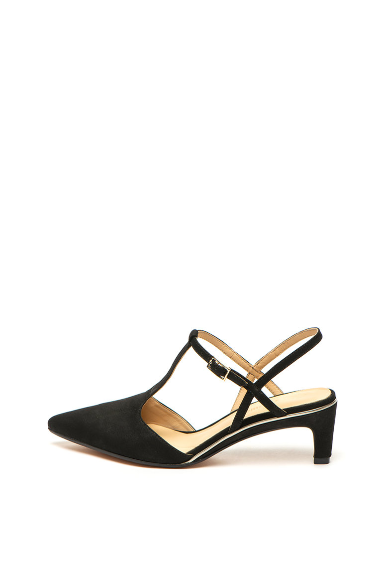 Pantofi slingback de piele nabuc Ellis de la Clarks