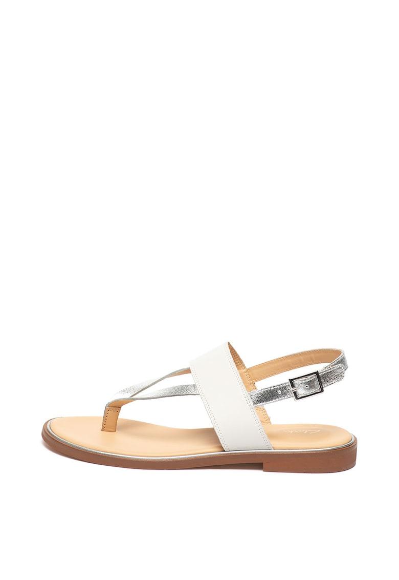 Sandale de piele – cu bareta separatoare Ellis Opal de la Clarks