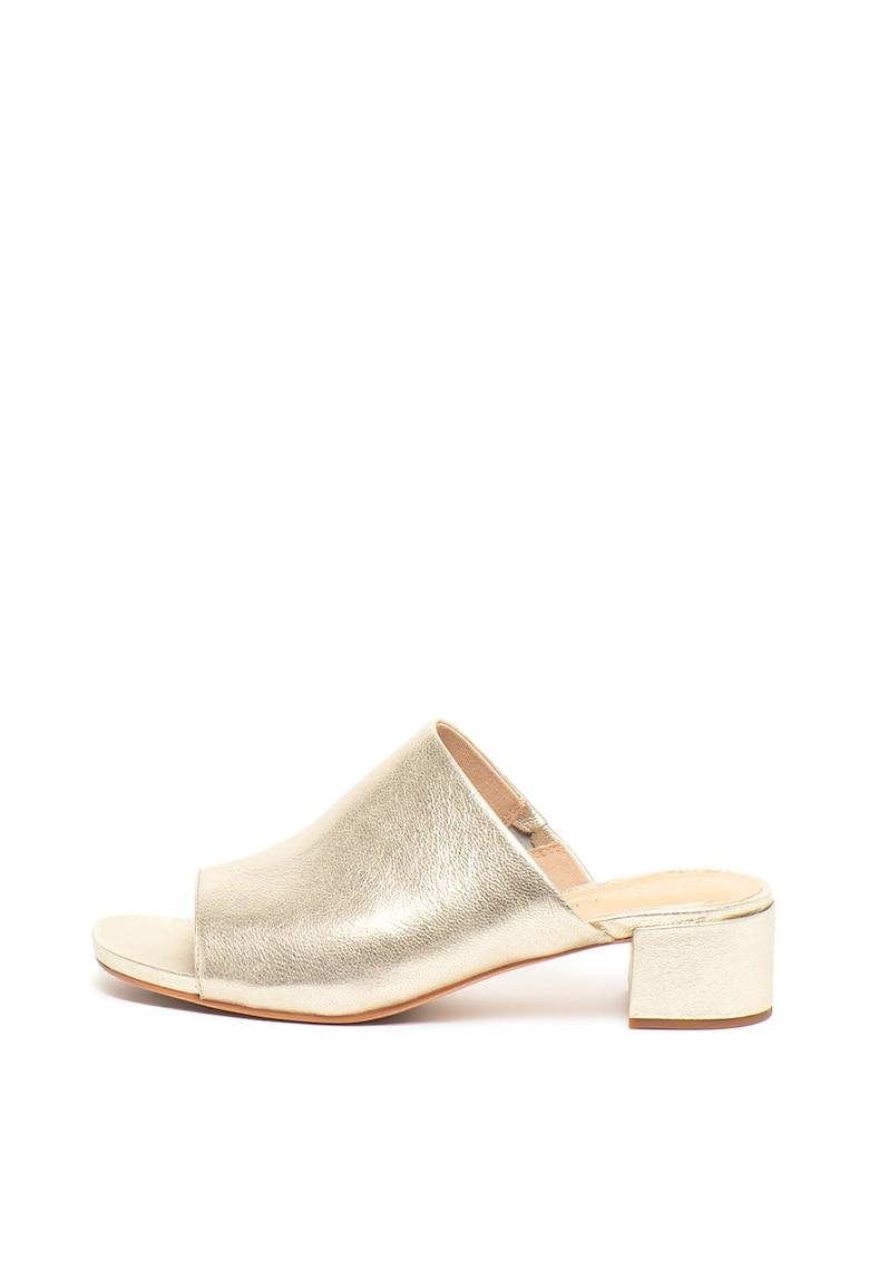 Papuci de piele cu toc Orabella Daisy