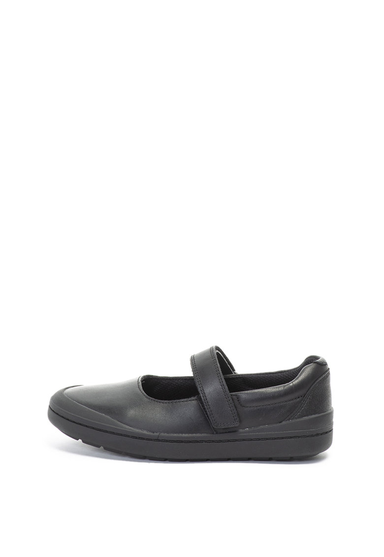 Pantofi Mary Jane de piele si piele ecologica Rock Spark