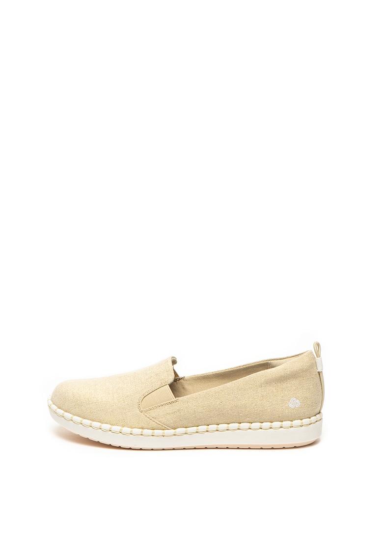 Pantofi slip on cu aspect stralucitor Step Glow de la Clarks