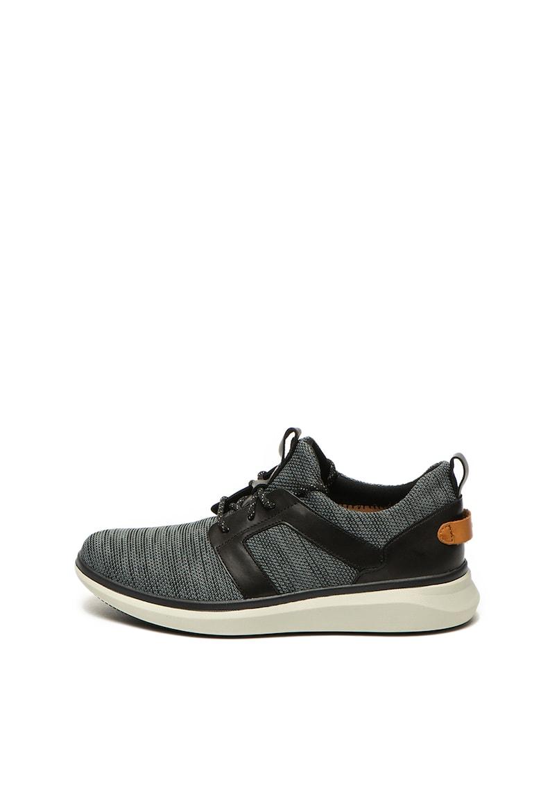 Pantofi sport slip on cu garnituri de piele ecologica Un Globe