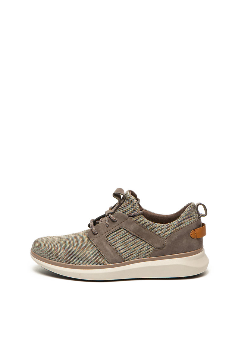 Pantofi sport slip on cu garnituri de piele intoarsa ecologica Un Globe 2