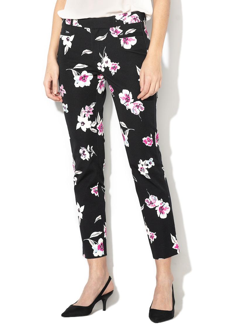 Pantaloni conici cu imprimeu floral imagine fashiondays.ro Banana Republic