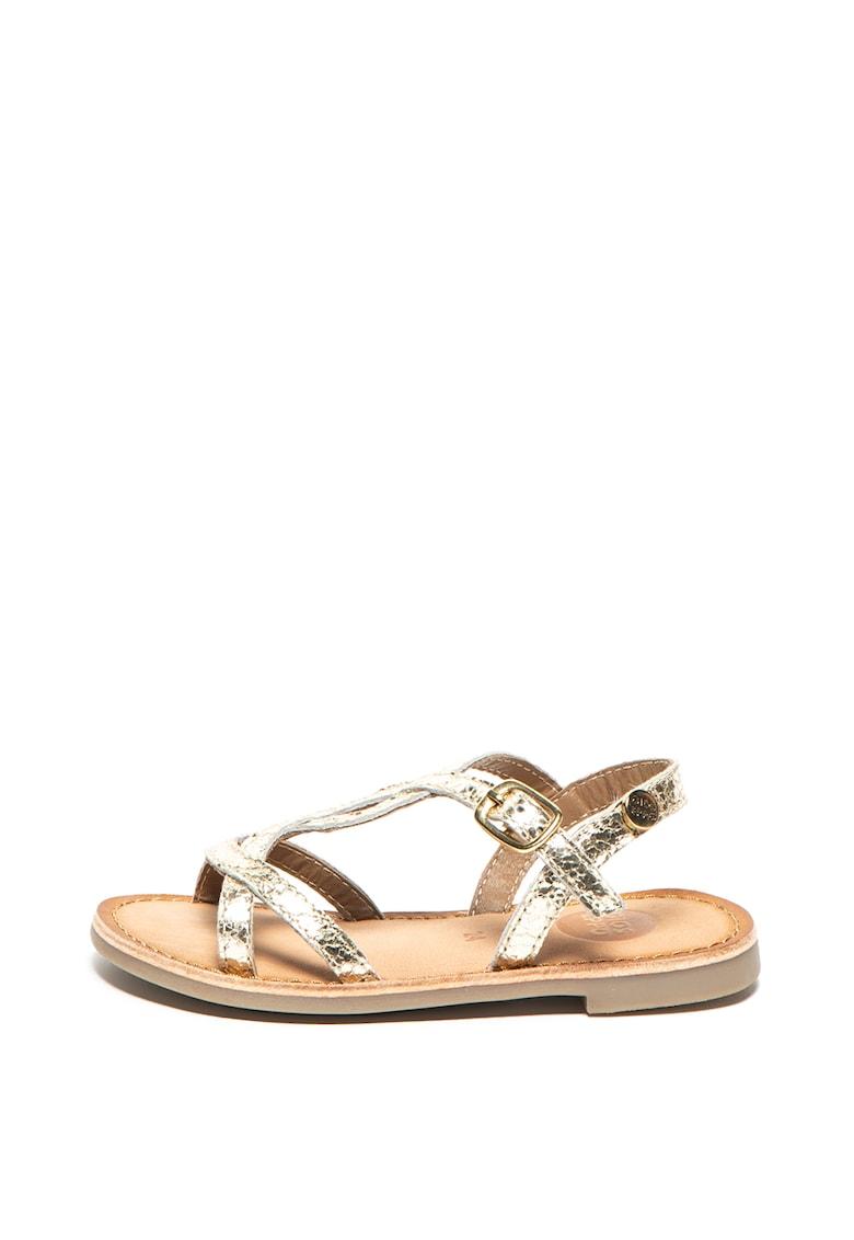 Sandale de piele cu barete multiple Cinisello