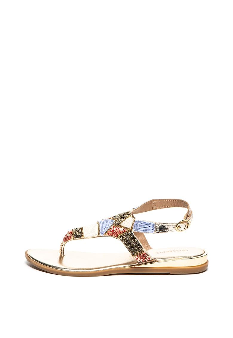Sandale cu aplicatii de margele Cicala