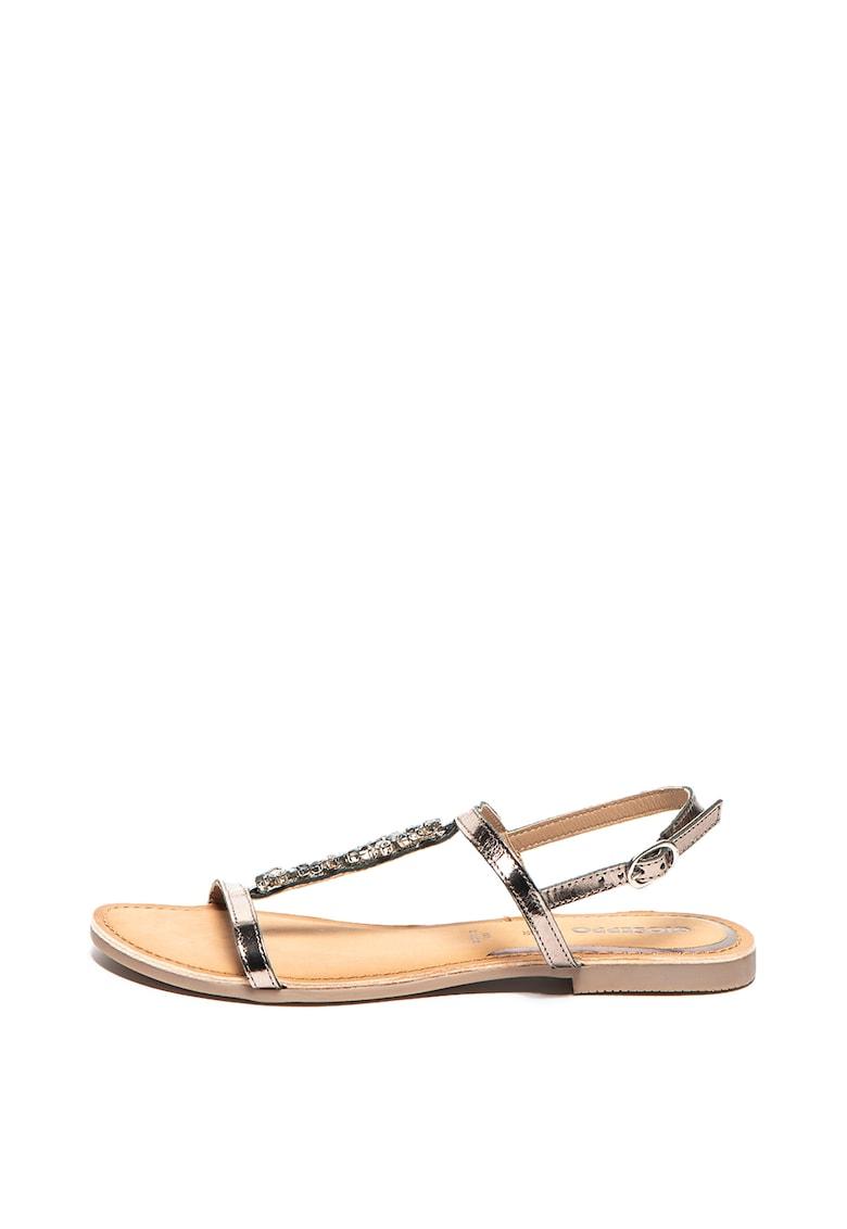Sandale de piele cu strasuri Seixal