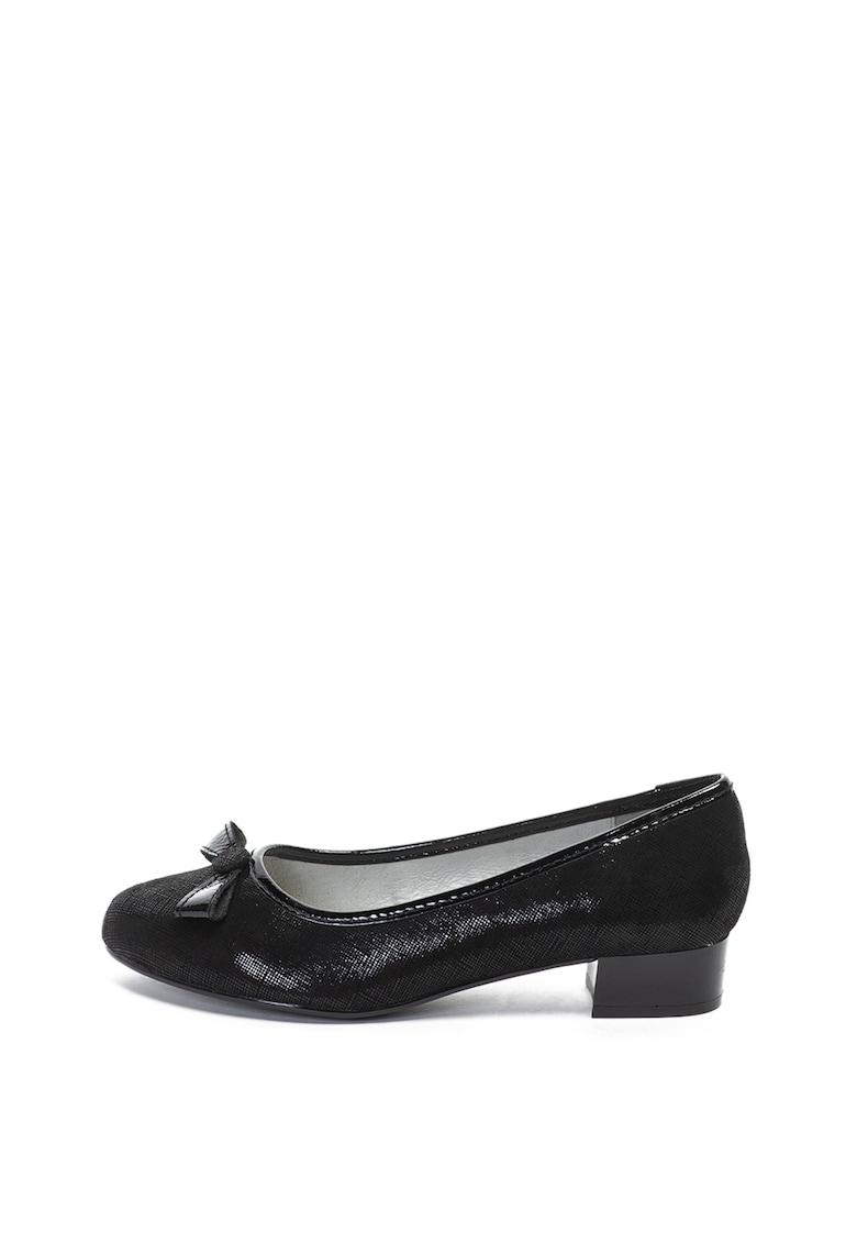 Jana Shoes Pantofi de piele – cu garnituri lacuite