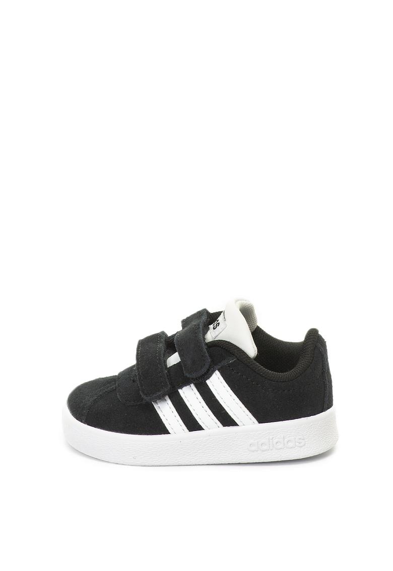 Pantofi sport de piele intoarsa - cu garnituri de piele ecologica VL Court 2.0 de la Adidas PERFORMANCE