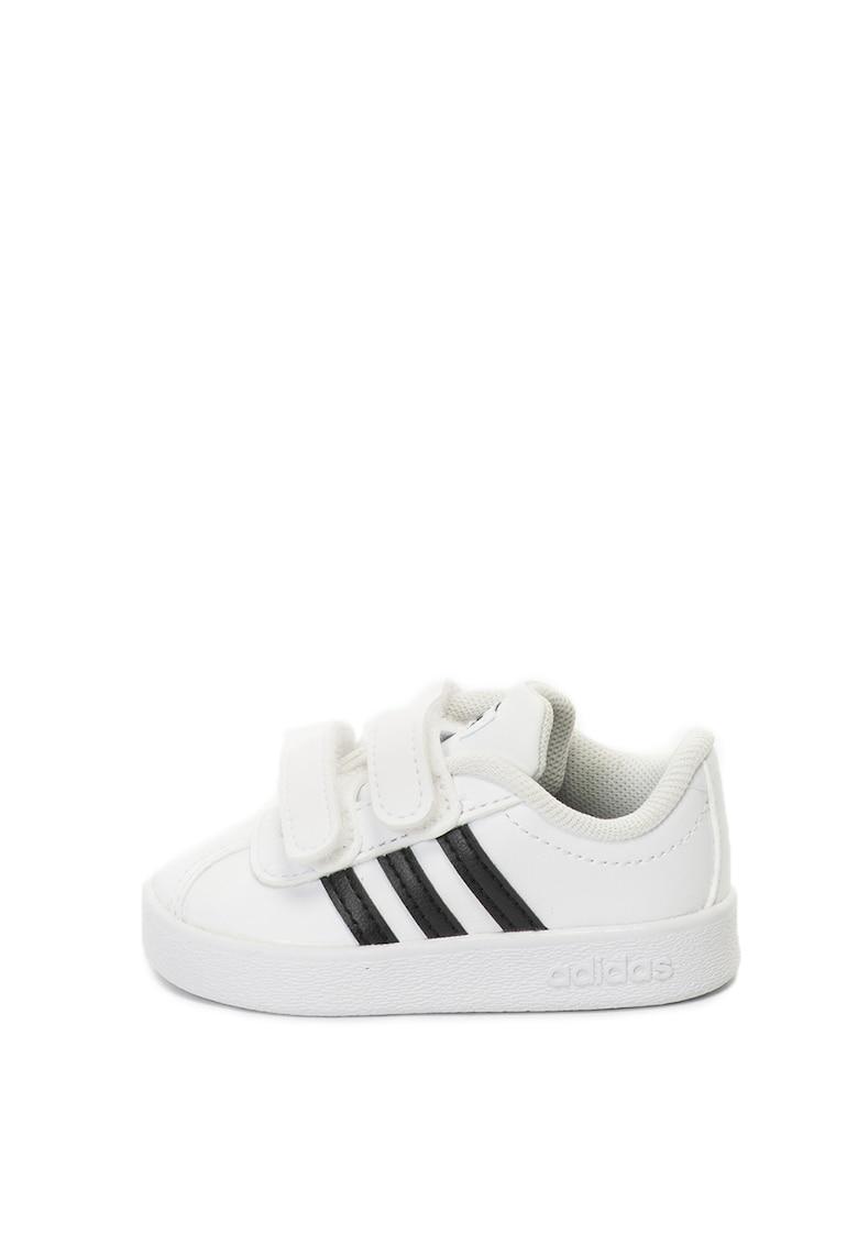 Pantofi sport de piele ecologica - cu velcro VL Court imagine fashiondays.ro