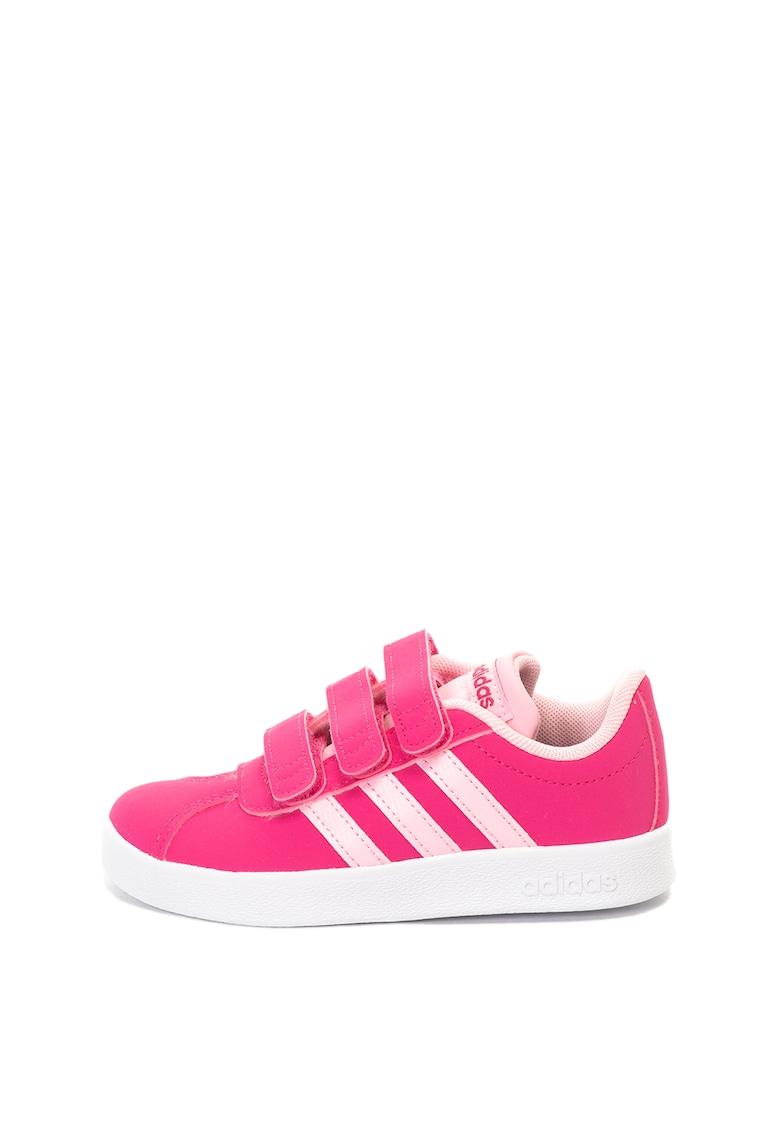 Pantofi sport de piele ecologica Court Adidas PERFORMANCE