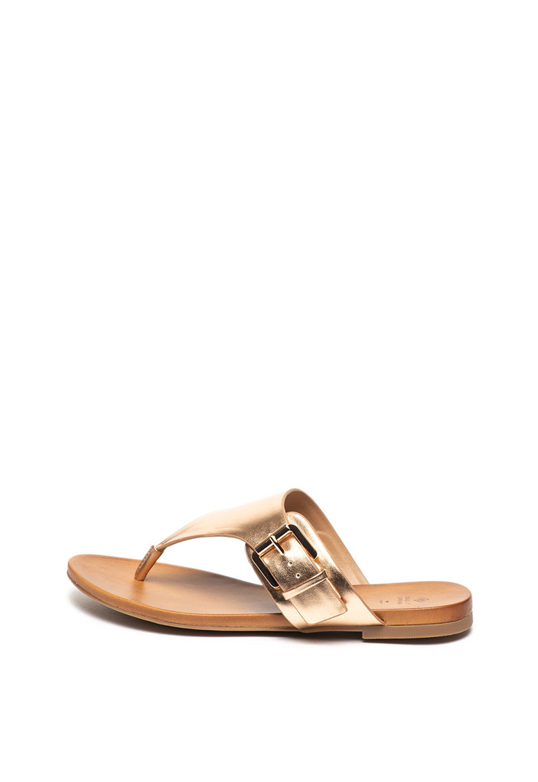 Papuci flip-flop de piele ecologica Fennica