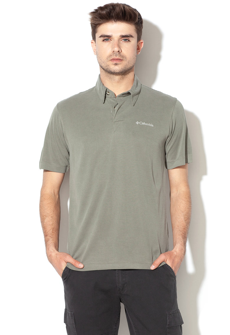 Imagine Tricou Polo Din Amestec De Modal Cu Aspect Striat