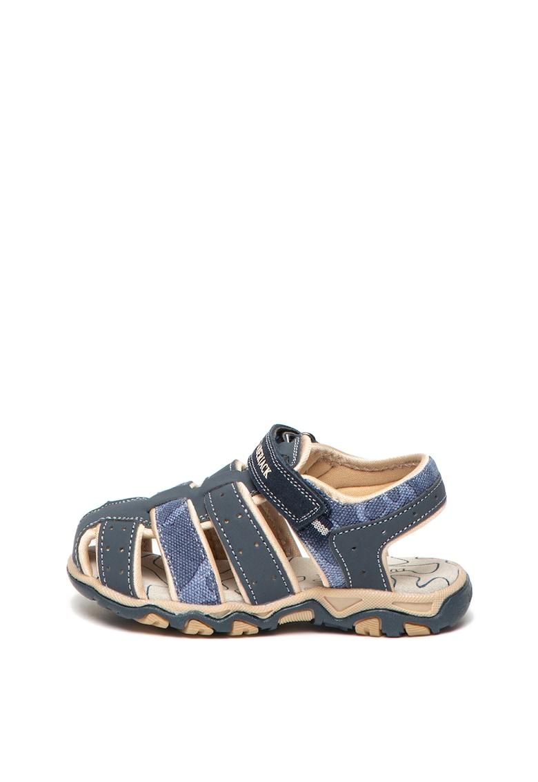 Sandale de piele nabuc ecologica si panza Levi