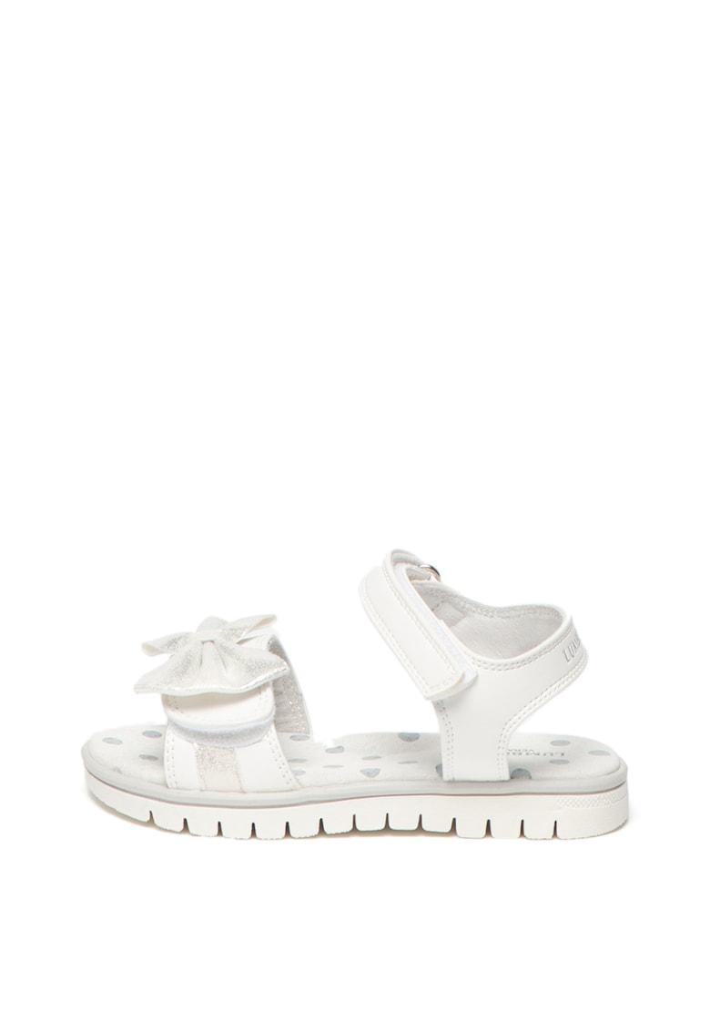 Sandale de piele ecologica - cu aplicatie cu funda Lara fashiondays.ro