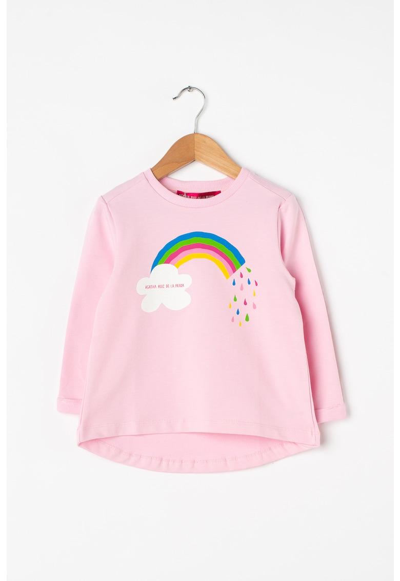 Bluza cu terminatie asimetrica Rainbow
