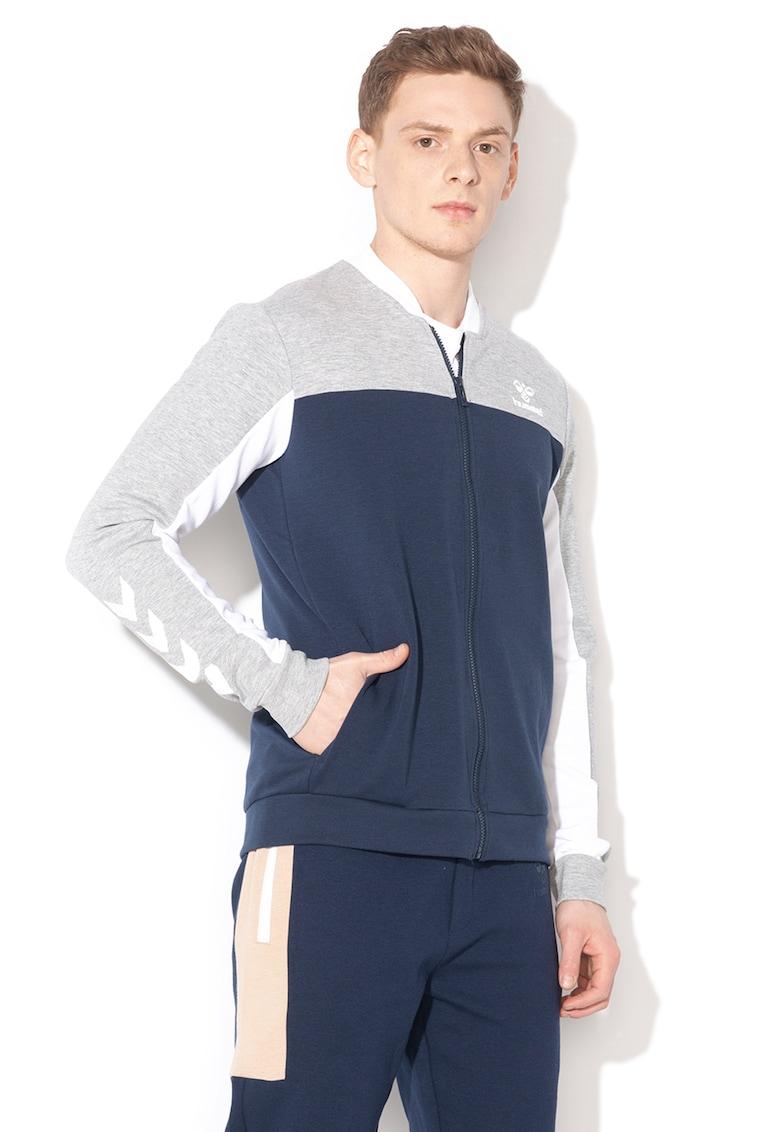 Bluza sport cu model colorblock si fermoar - pentru fitness Mason
