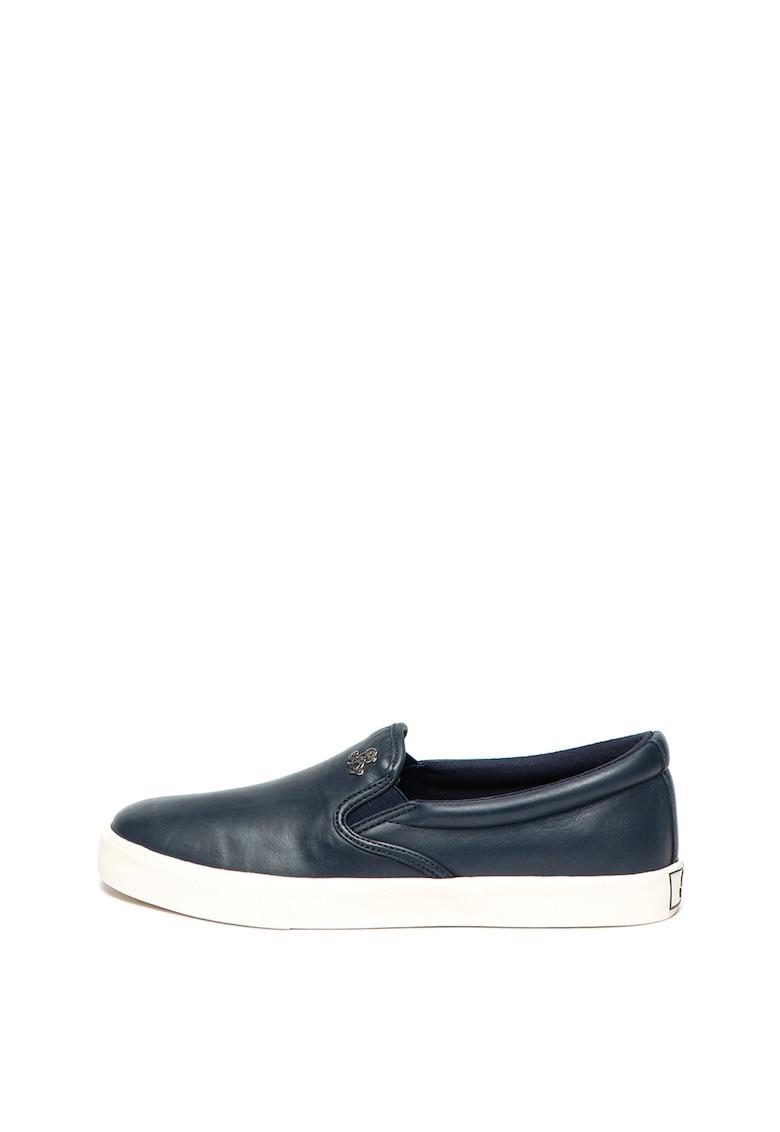 Polo Ralph Lauren – Pantofi slip-on de piele si material textil Camilo de la Lauren Ralph Lauren