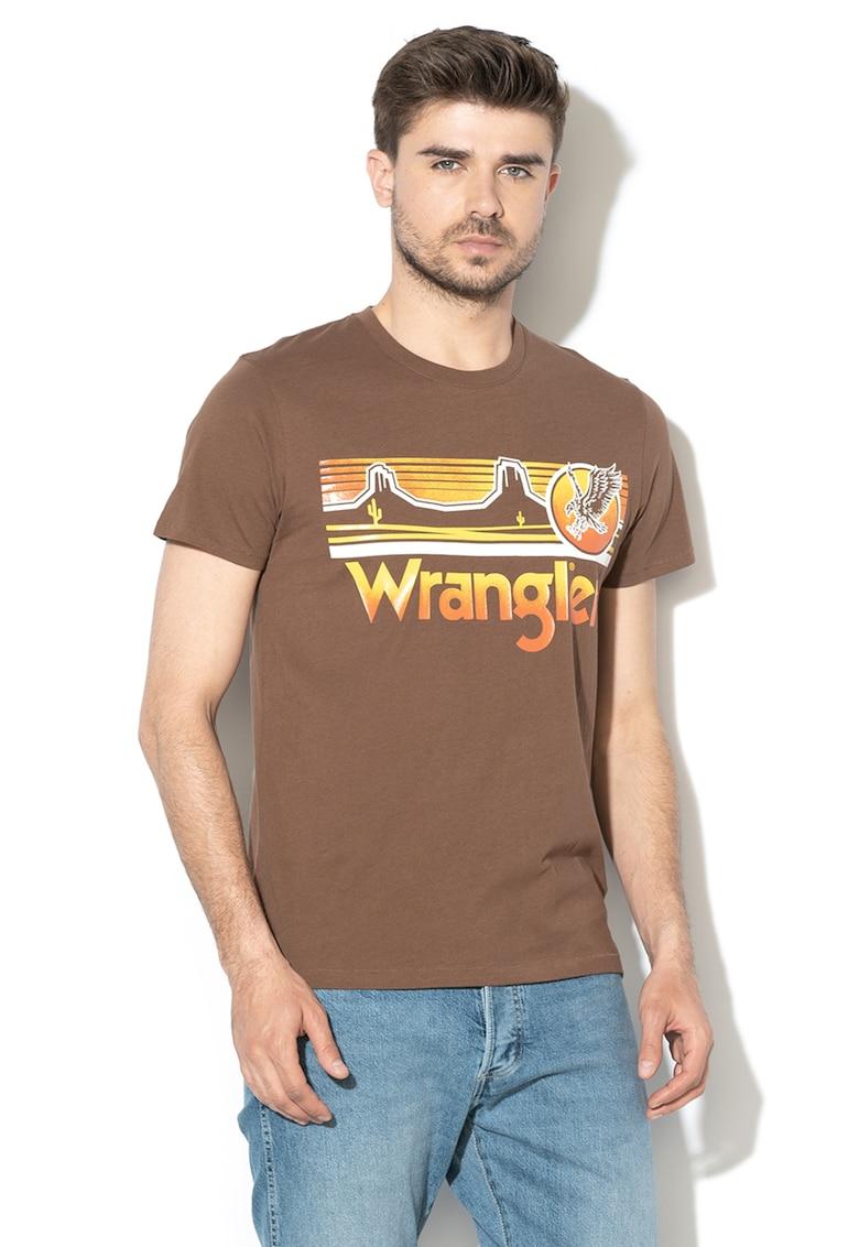 Tricou cu imprimeu logo Eagle de la Wrangler