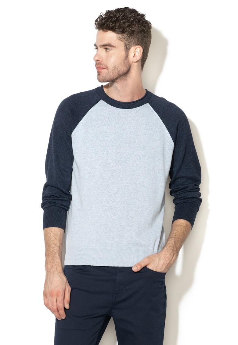 Pulover din amestec de in tricotat fin