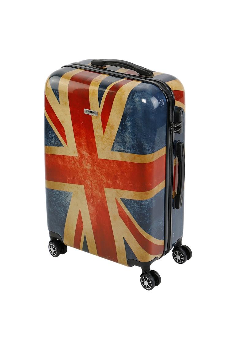 Troler Union Jack - ABS+PC imagine fashiondays.ro 2021