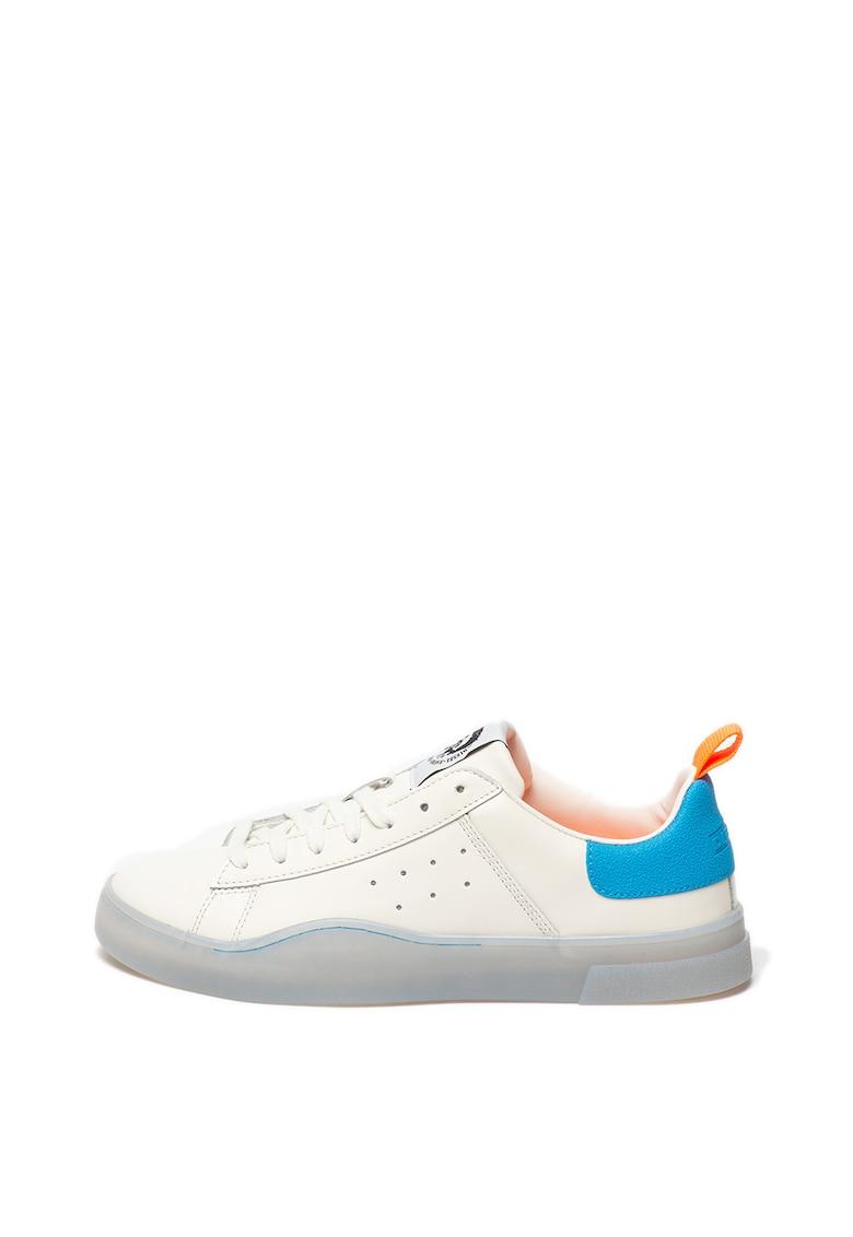 Pantofi sport de piele cu talpa translucida Clever