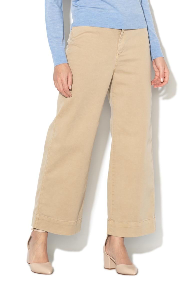 Pantaloni culotte din denim - cu croiala ampla