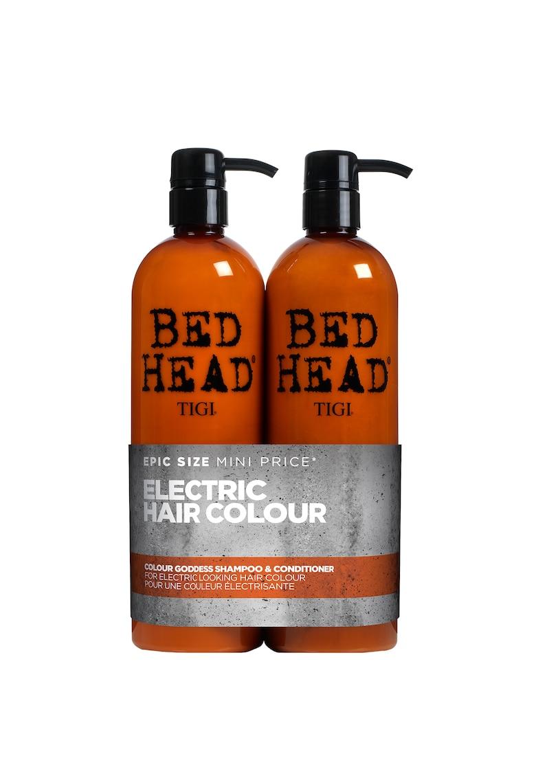 Tigi Set ingrijire par  Bed Head Colour Goddess pentru par vopsit: Sampon - 750 ml + Balsam - 750 ml
