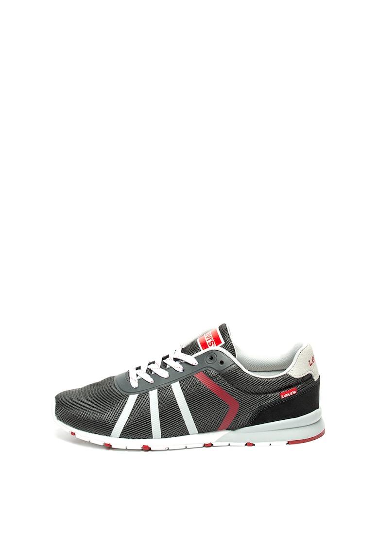 Pantofi sport de plasa cu insertii de piele Almayer Lite