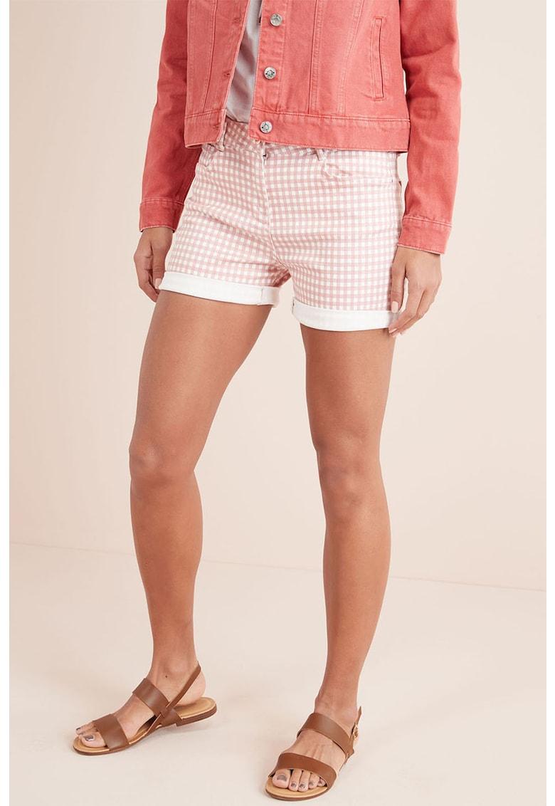 Pantaloni scurti din amestec de lyocell cu imprimeu geometric