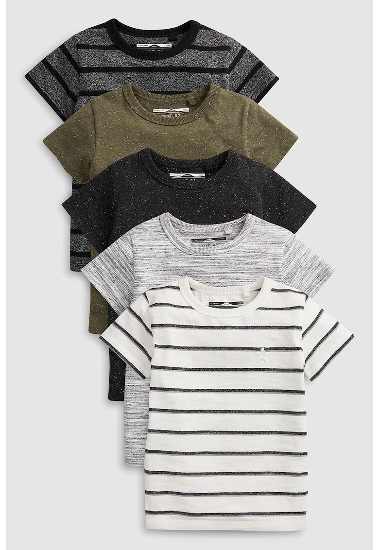 Set de tricouri cu logo brodat - 5 piese de la NEXT