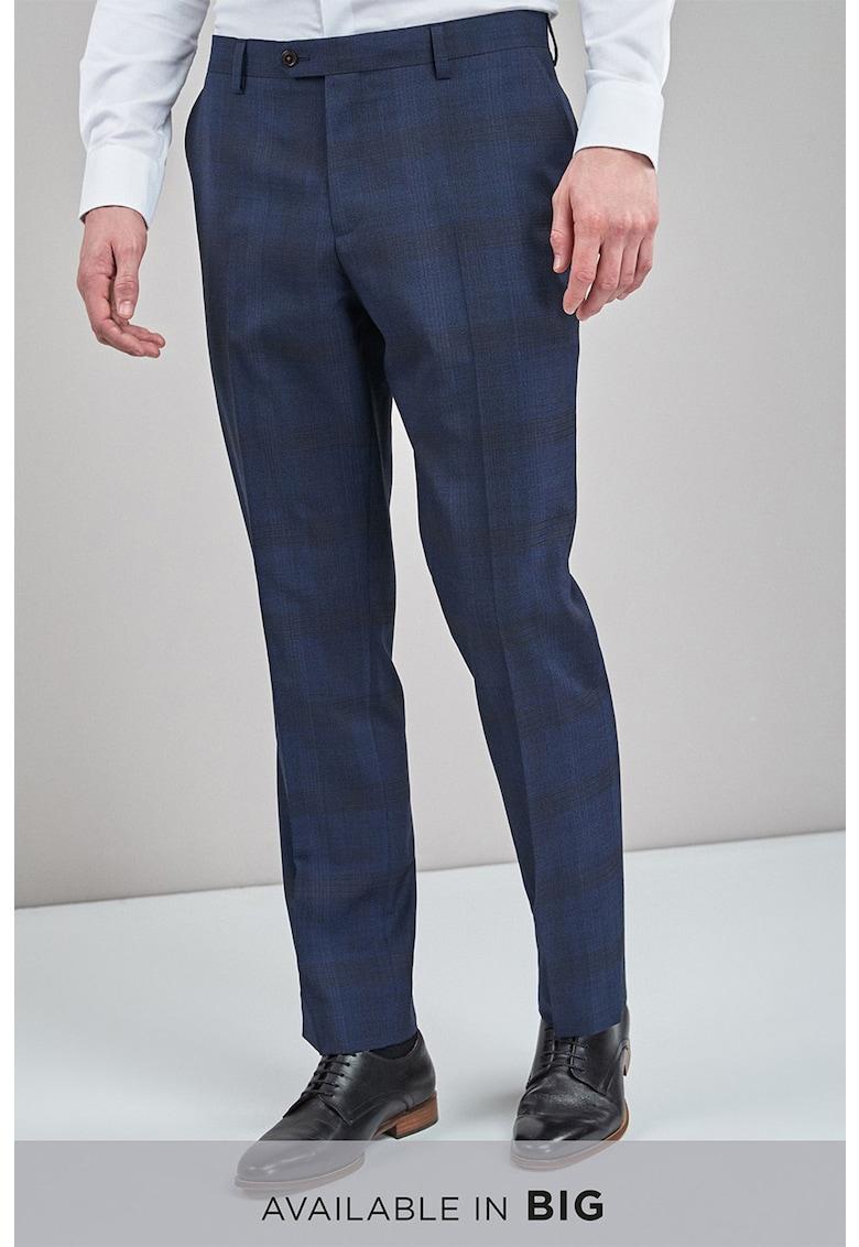 Pantaloni regular fit eleganti de lana in carouri de la NEXT