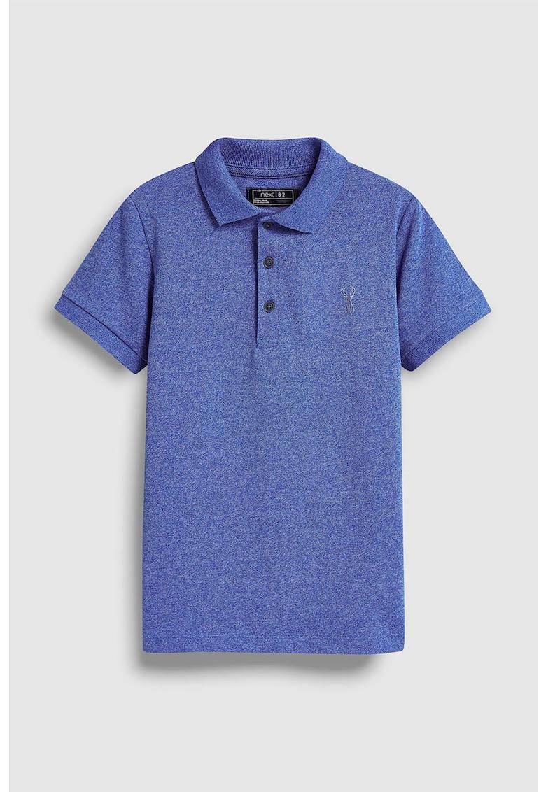 Tricou polo din pique – cu logo brodat de la NEXT
