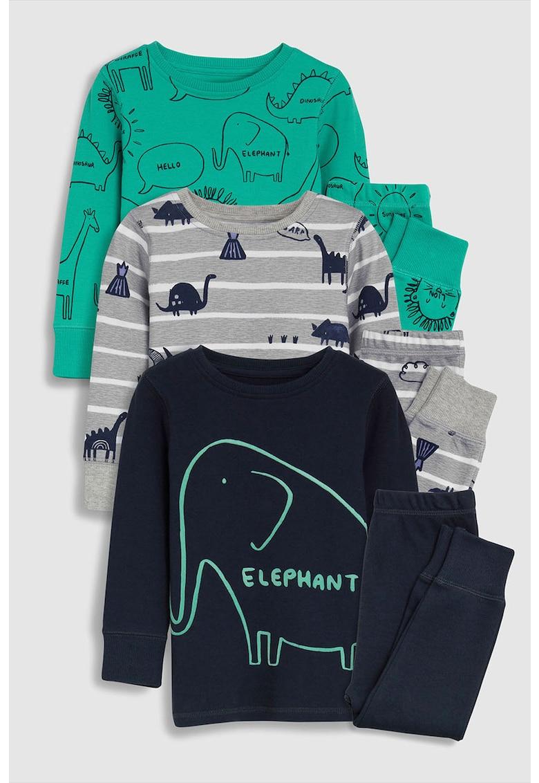 Set de pijama cu imprimeu - 3 perechi