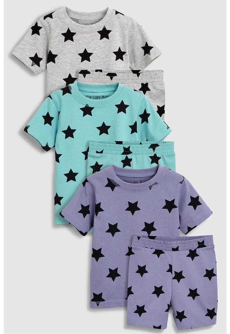 Set de pijamale cu imprimeu cu stele – 3 perechi de la NEXT