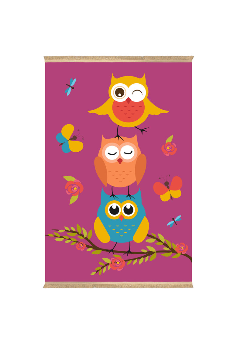 Covor Owl fibre sintetice - trafic intens - Mov - 100338 imagine fashiondays.ro