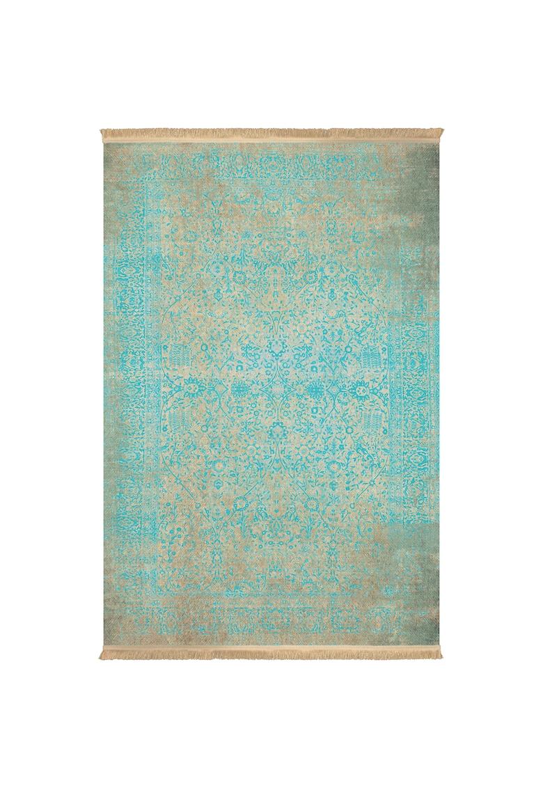 Covor fibre sintetice - trafic intens - Albastru/Gri - 100486 poza fashiondays