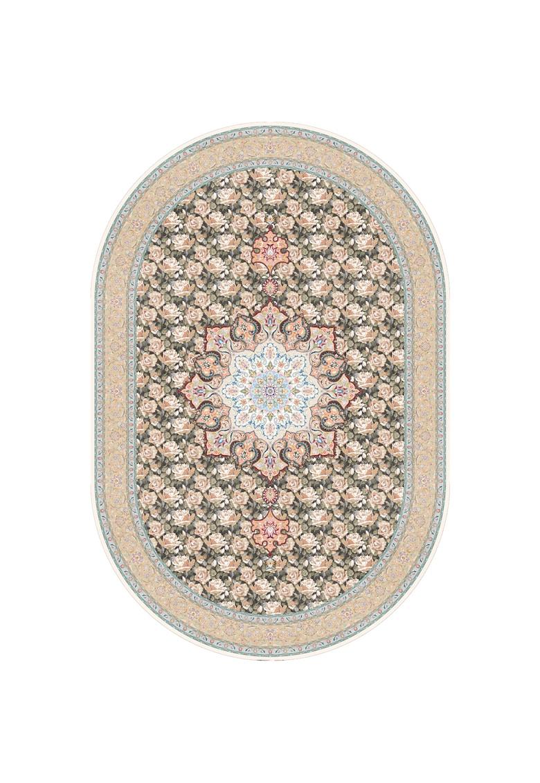 Covor oval - fibre sintetice - trafic intens - Multicolor - 100511 poza fashiondays
