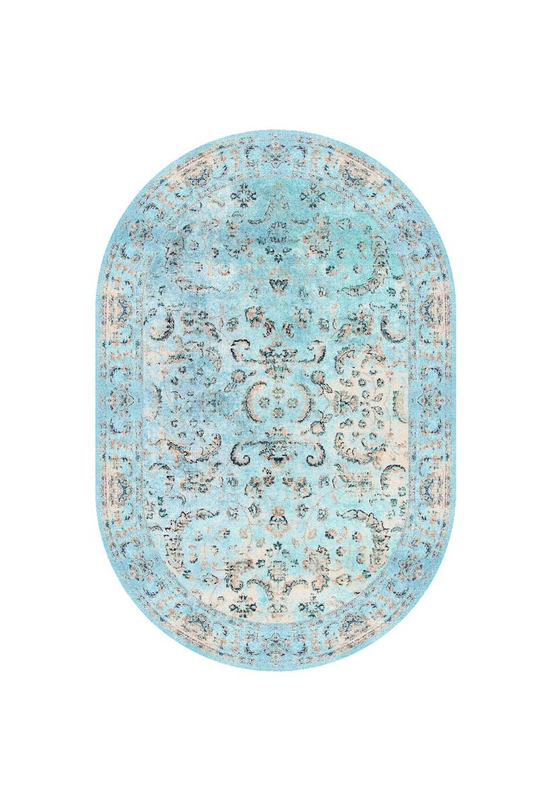 Covor oval - fibre sintetice - trafic intens - Multicolor - 100617 poza fashiondays