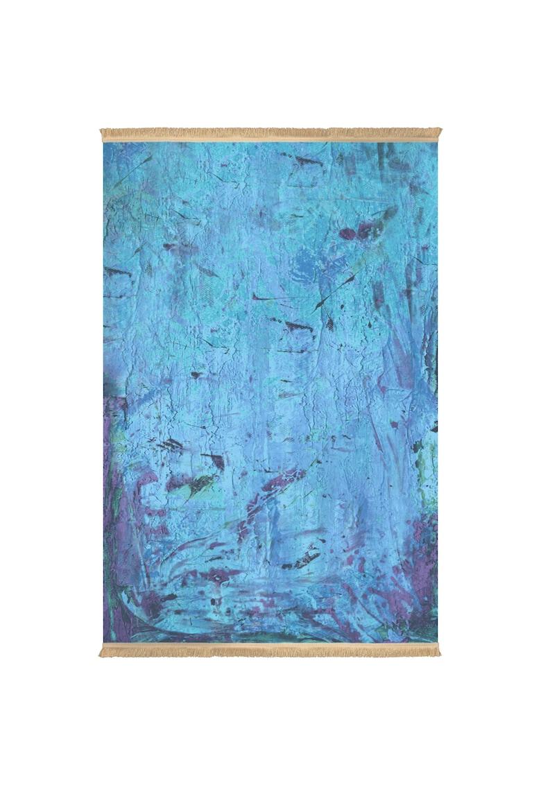 Covor fibre sintetice - trafic intens - Albastru - 100312 poza fashiondays