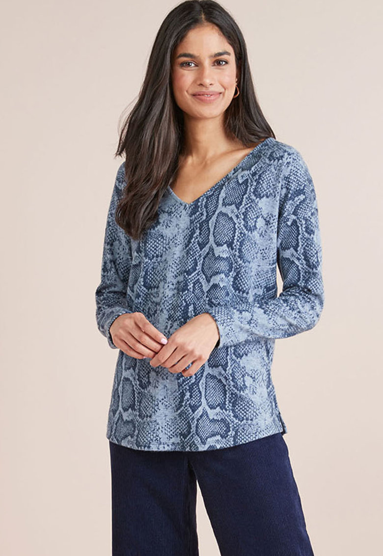 Bluza regular fit cu decupaj pe partea din spate de la NEXT