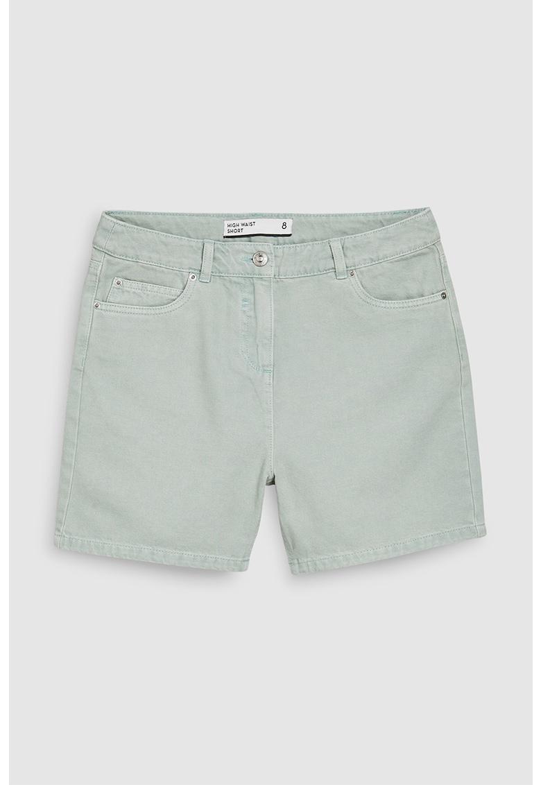 Pantaloni scurti de denim cu talie inalta