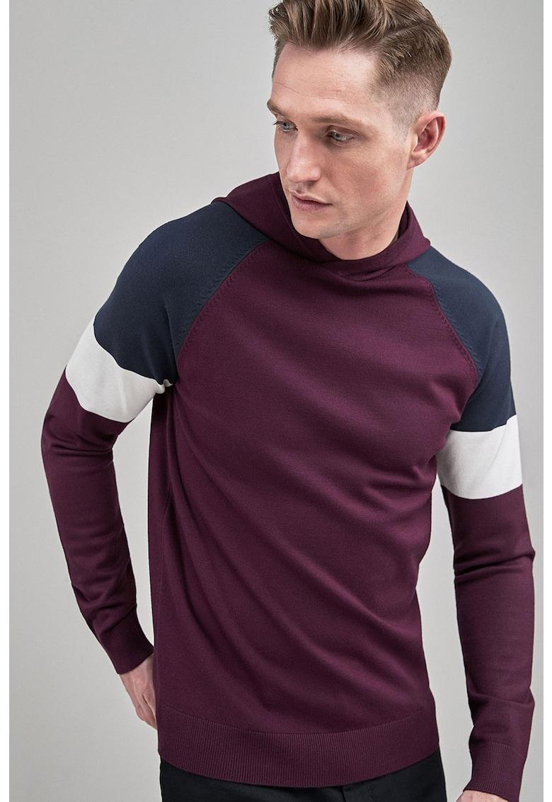 Hanorac tricotat cu model colorblock