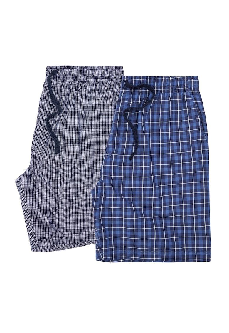Set de pijamale scurte cu model in carouri - 2 perechi